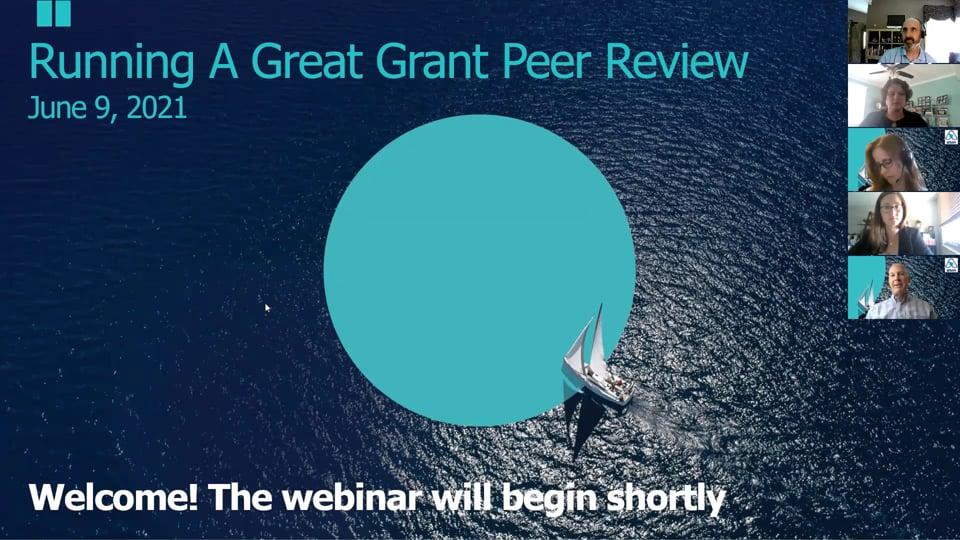 Grant Peer Review Webinar Image